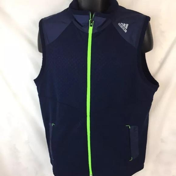 cba1b3690dcf0 adidas Golf Men's Climaproof Wind Vest, Blue L